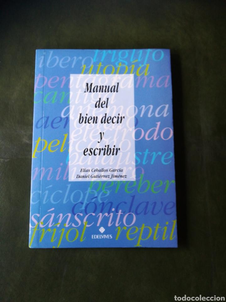 LIBRO MANUAL DEL BIEN DECIR (Libros Nuevos - Educación - Aprendizaje)