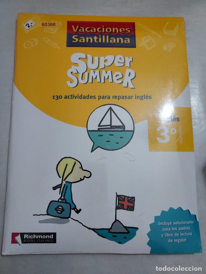 50368 - VACACIONES SANTILLANA SUPER SUMMER 130 ACTIVIDADES PARA REPASAR INGLES 3º PRIMARIA (Libros Nuevos - Educación - Aprendizaje)