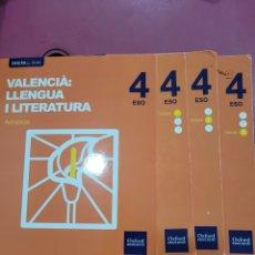 Libros: VALENCIA LLENGUA Y LITERATURA 4 ESO. Lote 288345733