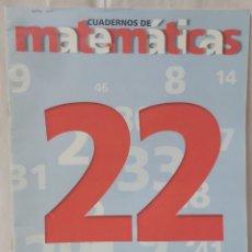 Libros: CUADERNO DE MATEMÁTICAS N 22 BRUÑO. Lote 293143333