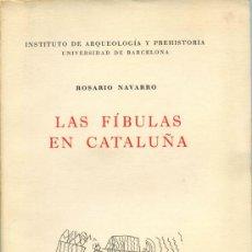 Libros: LAS FÍBULAS EN CATALUÑA. Lote 12284163
