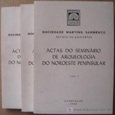 Libros: ACTAS DO SEMINARIO DE ARQUEOLOGÍA DO NOROESTE PENINSULAR (TRES TOMOS.COMPLETO). Lote 12551693