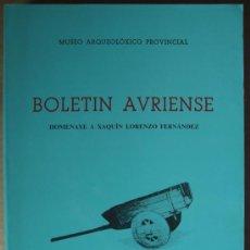 Libros: BOLETÍN AURIENSE: HOMENAXE A XAQUÍN LORENZO FERNÁNDEZ. Lote 12727106