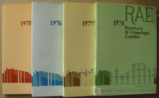 REPERTORIO DE ARQUEOLOGÍA ESPAÑOLA. AÑOS 1975, 1976,1977 Y 1978 (4 TOMOS ) (Libros Nuevos - Historia - Arqueología)