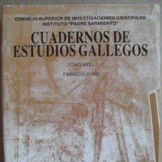 Libros: CUADERNOS DE ESTUDIOS GALLEGOS.TOMO XXXV.ARTE,ARQUEOLOGÍA,ETNOGRAFÍA,.... Lote 13214000