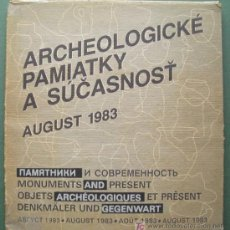 Libros: ARCHEOLOGICKE PAMIATKY A SUCASNOST. AUGUST 1983. OBJETOS ARQUEOLÓGICOS Y PRESENTE. Lote 13489989