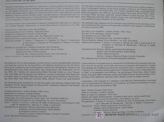 Libros: ARCHEOLOGICKE PAMIATKY A SUCASNOST. AUGUST 1983. OBJETOS ARQUEOLÓGICOS Y PRESENTE - Foto 4 - 13489989