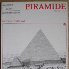 Libros: NACIMIENTO DE UNA PIRÁMIDE EGIPCIA. 3.000 AÑOS ANTES DE JESUCRISTO. ARQUEOLOGÍA DIVULGATIVA. Lote 13848638
