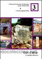 SON CATLAR. CIUTADELLA, MENORCA. (ARQUEOLOGÍA - ARTE) (LAGARDA) (Libros Nuevos - Historia - Arqueología)