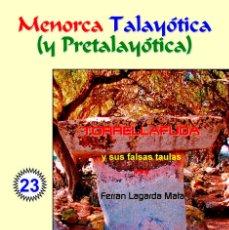 Libros: TORRELLAFUDA Y SUS FALSAS TAULAS (LAGARDA MATA) - MENORCA. Lote 116914735