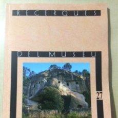 Libros: RECERQUES DEL MUSEU D'ALCOI, NÚM. 27, 2018 . Lote 153853990