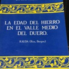 Libros: LA EDAD DEL HIERRO EN EL VALLE MEDIO DEL DUERO RAUDA ROA BURGOS. Lote 200783587