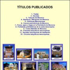 Libros: (12 TOMOS) LA COLECCIÓN O ENCICLOPEDIA ARQUEOGUIA (MENORCA) COMPLETA.. Lote 204809917