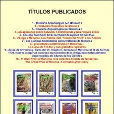 Libros: (10 VOLÚMENES) LA COLECCIÓN MINOR (SOBRE MENORCA) COMPLETA (PEQUEÑA ENCICLOPEDIA).. Lote 205169307