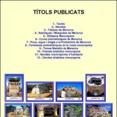 Libros: (11 VOLÚMENES). COLECCIÓN O ENCICLOPEDIA ARQUEOGUIA (MENORCA) EN CATALÁN (FALTA EL Nº 1).. Lote 206447852