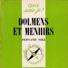 Libros: DOLMENS ET MENHIRS. Lote 216864197