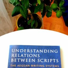 Libros: UNDERSTANDING RELATIONS BETWEEN SCRIPTS: AEGEAN WRITING SYSTEMS,2017.Y. EARLY ALPHABETS,2020. STEELE. Lote 216873630