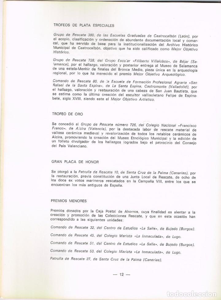 Libros: 1980 Campaña XIII 1798 1979 RTVE Misión Rescate - Lista Grupos Ganadores... Hallazgos Arqueológicos - Foto 5 - 223763722