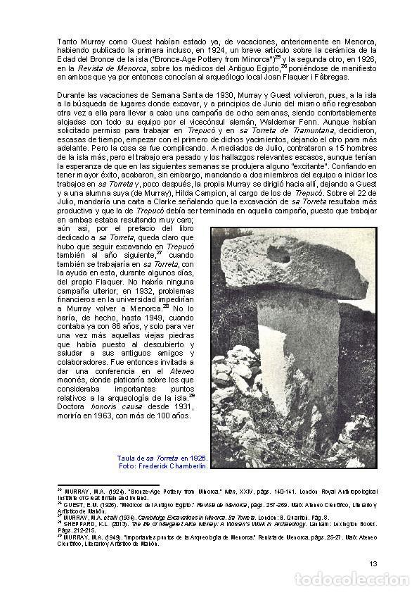Libros: Sa Torreta de Tramuntana y el dios de las brujas. (Menorca talayótica (y pretalayótica)) - Foto 7 - 149602232
