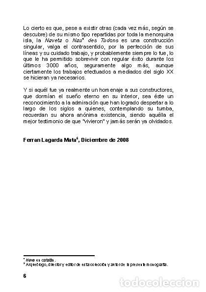 Libros: La Naveta des Tudons (Ciutadella de Menorca) - LAGARDA MATA, FERRAN - ARQUEOLOGIA ARTE - Foto 5 - 27239457
