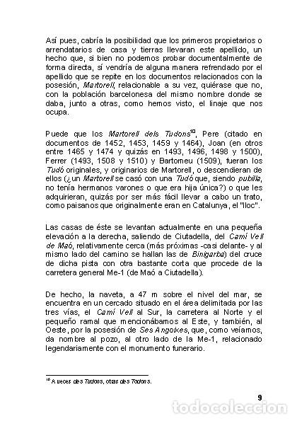Libros: La Naveta des Tudons (Ciutadella de Menorca) - LAGARDA MATA, FERRAN - ARQUEOLOGIA ARTE - Foto 8 - 27239457