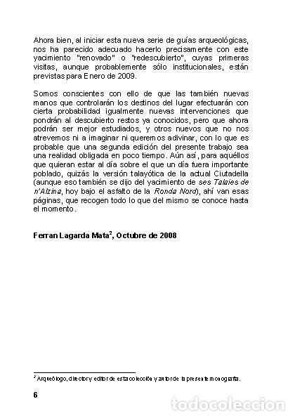 Libros: Menorca Arqueológica I: Montefí (Ciutadella de Menorca). (Arqueología - Arte) (LAGARDA) - Foto 4 - 191867078