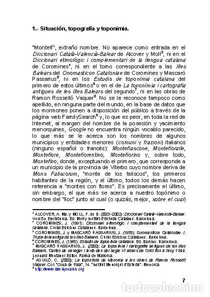 Libros: Menorca Arqueológica I: Montefí (Ciutadella de Menorca). (Arqueología - Arte) (LAGARDA) - Foto 5 - 191867078