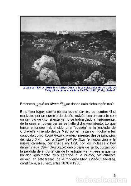 Libros: Menorca Arqueológica I: Montefí (Ciutadella de Menorca). (Arqueología - Arte) (LAGARDA) - Foto 7 - 191867078