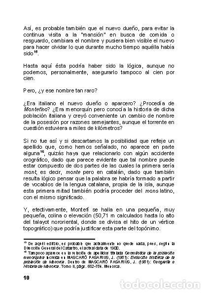 Libros: Menorca Arqueológica I: Montefí (Ciutadella de Menorca). (Arqueología - Arte) (LAGARDA) - Foto 8 - 191867078