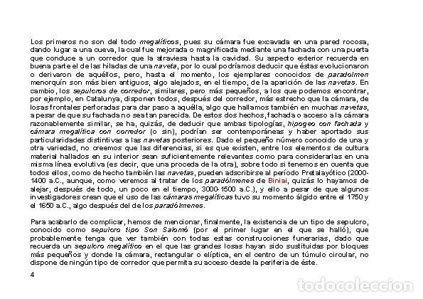 Libros: LAGARDA MATA, Ferran (2007): Dólmenes menorquines (Arqueología Arte Historia Menorca) - Foto 3 - 191867523
