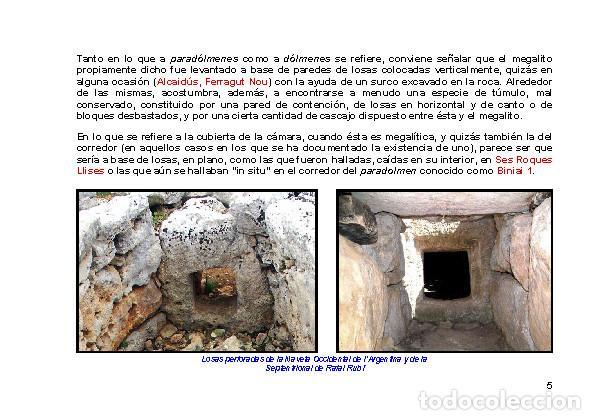 Libros: LAGARDA MATA, Ferran (2007): Dólmenes menorquines (Arqueología Arte Historia Menorca) - Foto 4 - 191867523