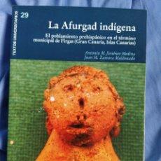 Libros: LIBRO LA AFURGAD INDIGENA. Lote 262569760