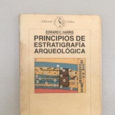 Livros: PRINCIPIOS DE ESTRATIGRAFIA ARQUEOLÓGICA. EDWARDS C. HARRIS. Lote 287990623
