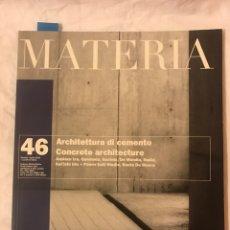 Libros: ARQUITECTURA DEL CEMENTO.. Lote 75730417