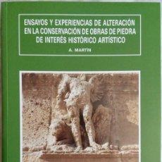 Libros: ARQUITECTURA. CONSERVACIÓN DE OBRAS DE PIEDRA DE INTERÉS HISTÓRICO ARTÍSTICO, ANTONIO MARTÍN PÉREZ.. Lote 86870592
