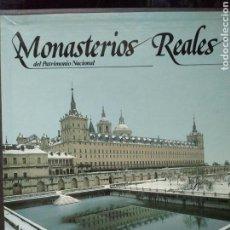 Libros: MONASTERIOS REALES, PALACIOS REALES, COLECCIONES REALES (3 VOLÚMENES).. Lote 114089348