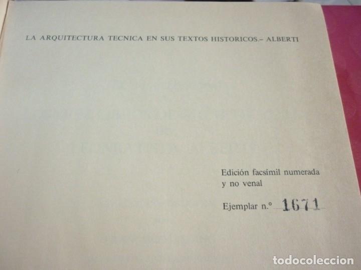 LA ARQUITECTURA TECNICA EN SUS TEXTOS HISTORICOS. ALBERTI EJEMPLAR NUMERO 1671 (Libros Nuevos - Bellas Artes, ocio y coleccionismo - Arquitectura)
