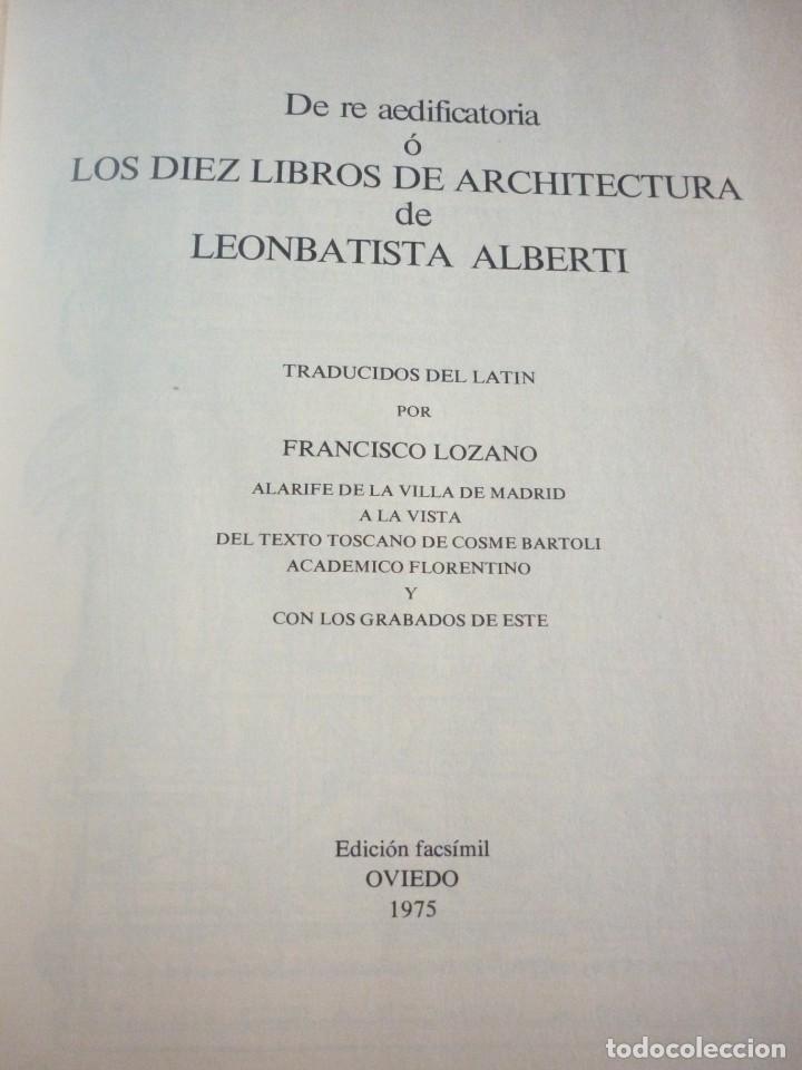 Libros: LA ARQUITECTURA TECNICA EN SUS TEXTOS HISTORICOS. ALBERTI EJEMPLAR NUMERO 1671 - Foto 2 - 163609626