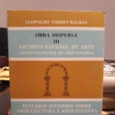 Libros: ESTUDIOS DIVERSOS SOBRE ARQUITECTURA Y ARQUEOLOGIA. Lote 171336849