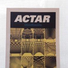 Libros: CATÁLOGO ACTAR 2010 (ACTALOG 02). ARQUITECTURA. ARTE. Lote 186785463