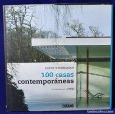 Libros: 100 CASAS CONTEMPORÁNEAS: INSPIRACIONES PARA TODO TIPO DE ENTORNOS (ILUSTRADOS / ESTILOS DE VIDA) -. Lote 203534798