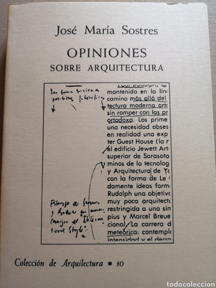 LIBRO DE ARQUITECTURA OPINIONES SOBRE ARQUITECTURA (Libros Nuevos - Bellas Artes, ocio y coleccionismo - Arquitectura)