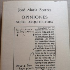 Libros: LIBRO DE ARQUITECTURA OPINIONES SOBRE ARQUITECTURA. Lote 206930102