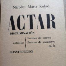 Libros: LIBRO DE ARQUITECTURA ACTAR DISCRIMINACIÓN EN LA CONSTRUCCIÓN. Lote 206930876