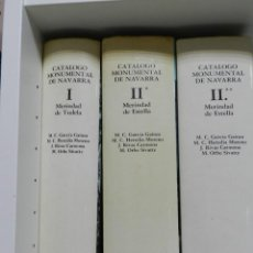 Libros: CATALOGO MONUMENTAL DE NAVARRA - 3 PRIMEROS VOLUMENES ARQUITECTURA. Lote 214258167