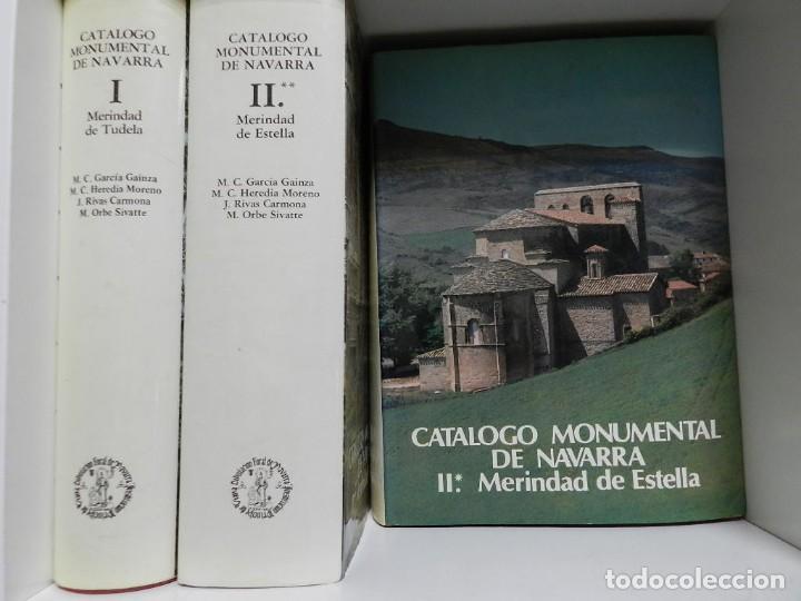 Libros: CATALOGO MONUMENTAL DE NAVARRA - 3 PRIMEROS VOLUMENES ARQUITECTURA - Foto 2 - 214258167