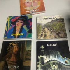 Libros: GAUDÍ, DURERO, PISARRO, KLEE, KIRCHNER, 4 TOMOS. NUEVOS. Lote 239442765
