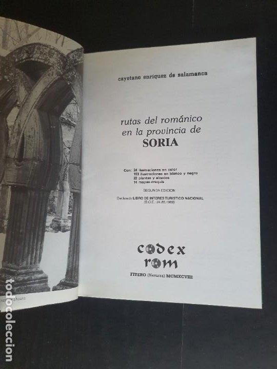 Libros: SORIA. RUAS DEL ROMÁNICO EN LA PROVINCIA DE SORIA 1998. CAYETABI EBRUQYEZ - Foto 3 - 241035100