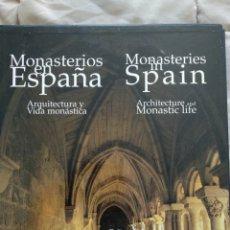 Libros: MONASTERIOS EN ESPAÑA. ARQUITECTURA Y VIDA MONÁSTICA. Lote 261198105