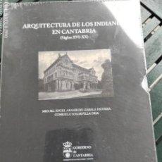 Libros: ARQUITECTURA DE LOS INDIANOS EN CANTABRIA, 2 VOLÚMENES. Lote 286826618